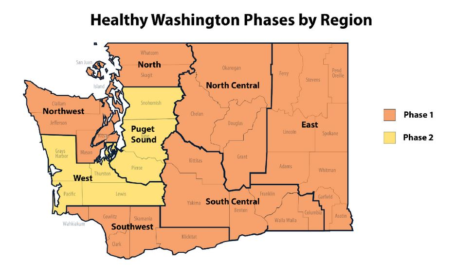 Washington state eases COVID-19 restrictions for Seattle region