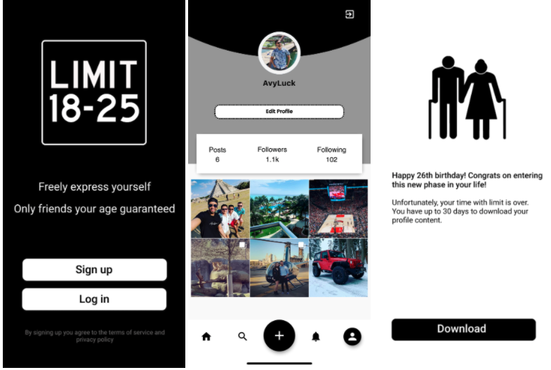 New 'Limit App' targets social media users between 18 and 25 — and kicks them off when they turn 26