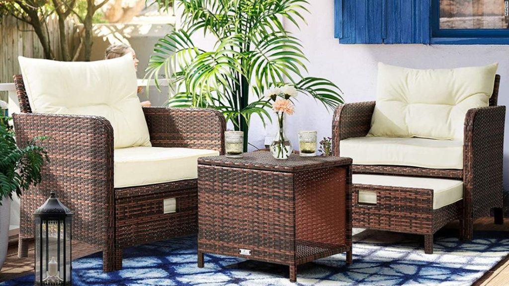 Stylish outdoor furniture on Amazon