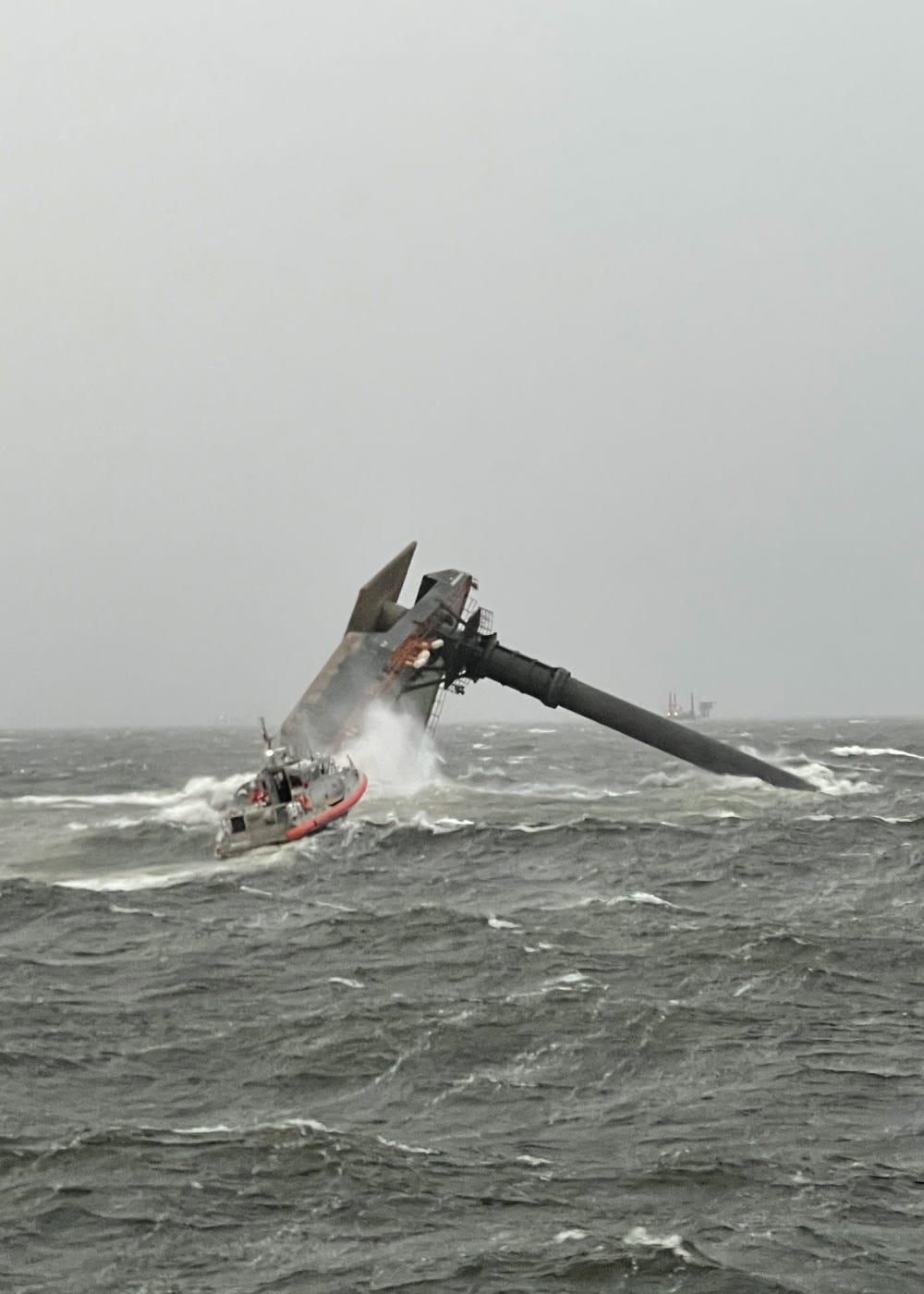 Coast Guard says commercial boat capsized off Louisiana coast