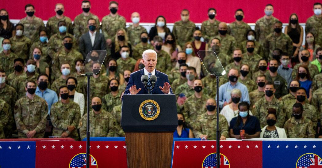 Biden Live Updates: President Vows to Build Alliances and Democracy