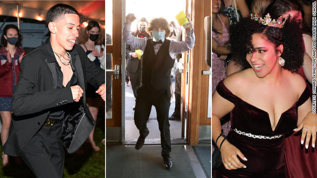 Temperature checks, lawn games and matching masks. Experience prom in the time of Covid-19