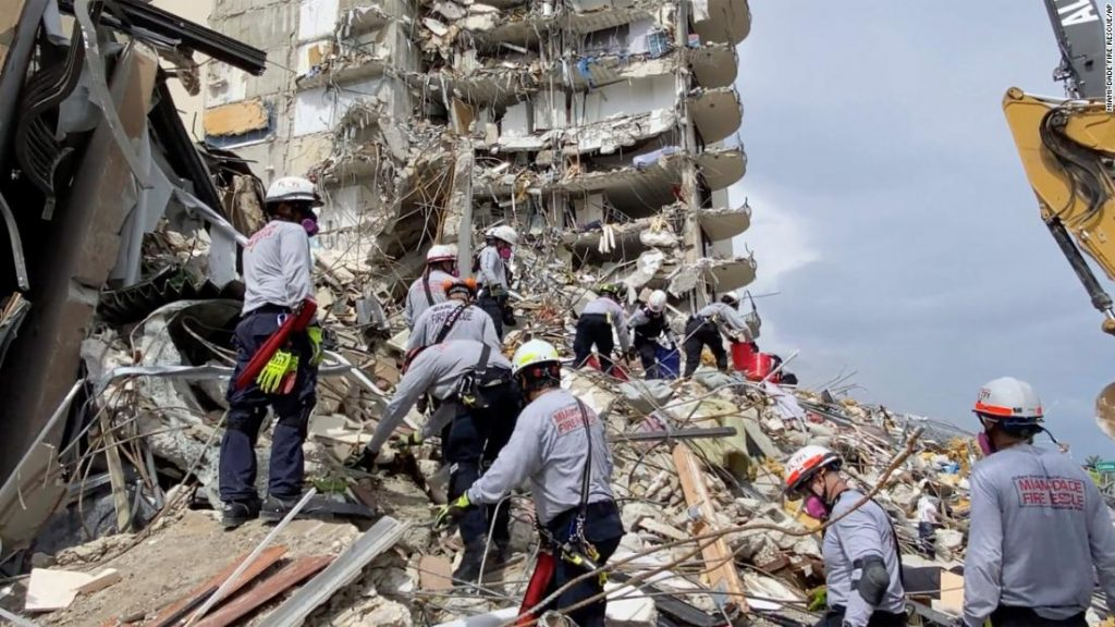 At least 156 missing after partial building collapse near Miami