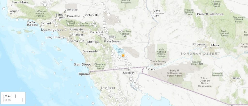 Calipartia-area quake rattles San Diego