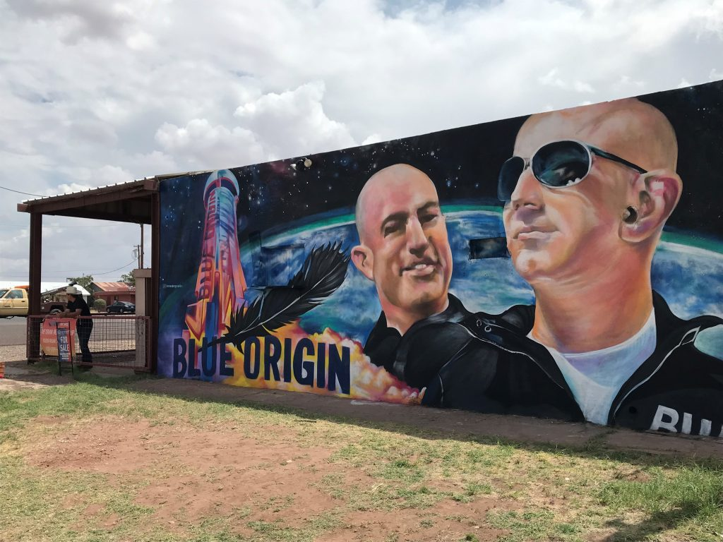 Blue Origin's space shots give tiny Texas town a boost