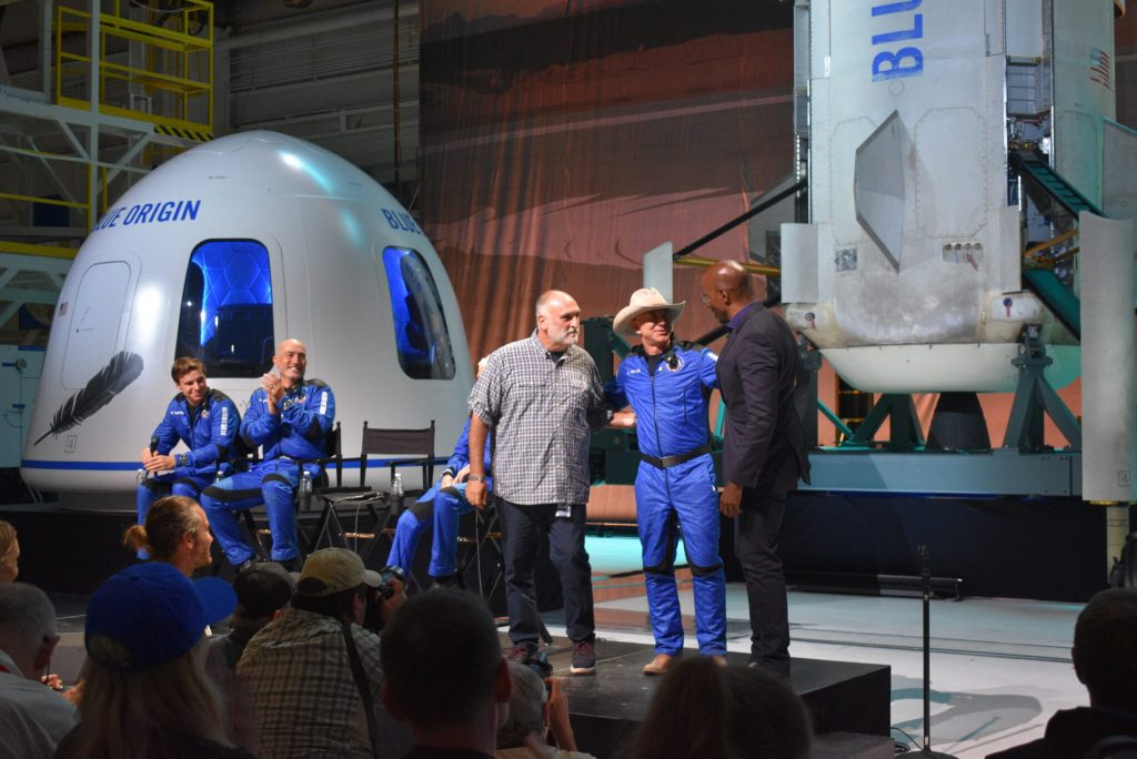 Jeff Bezos gives away $200M and thanks Amazon customers after Blue Origin's big launch