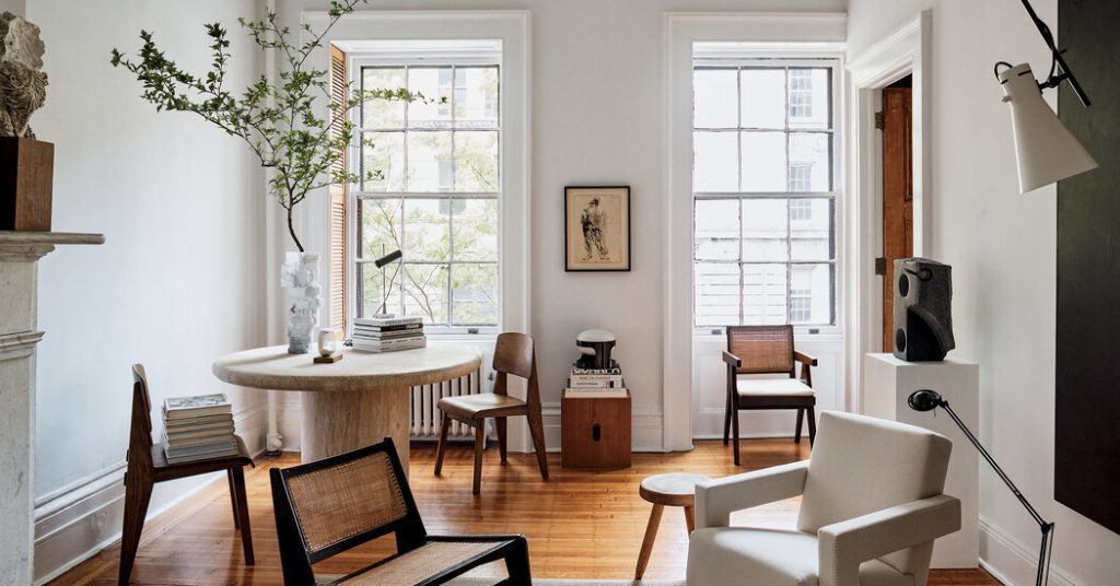 In His Own Home, an Interior Stylist Takes a Light Touch